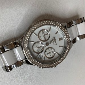 🎉 1 Day Sale! 🎉 DKNY White and Silver Watch